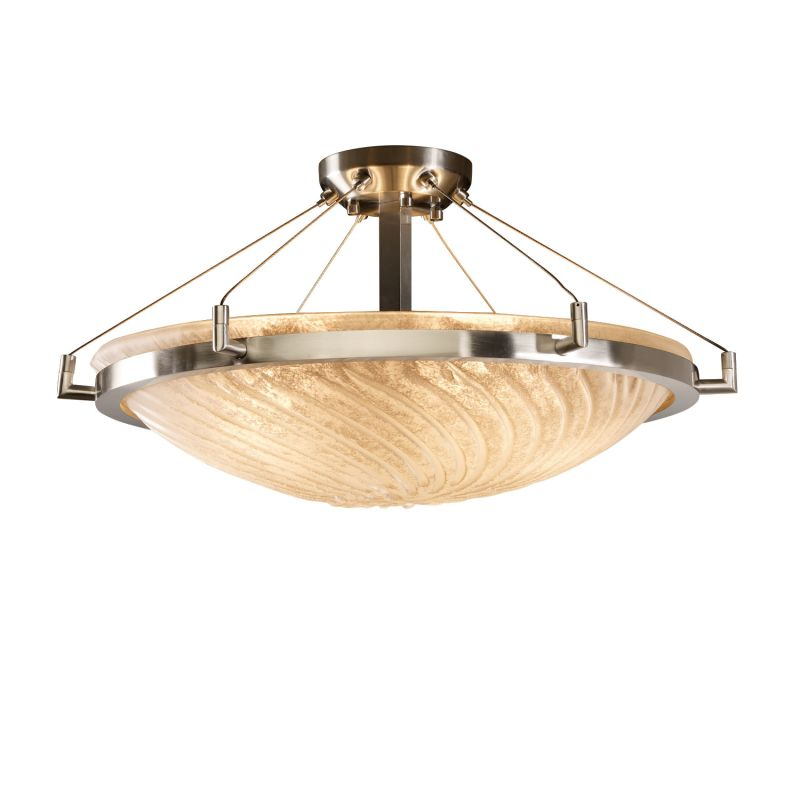 "Justice Design Group GLA-9682 24"" Round Semi-Flush Bowl Ceiling"