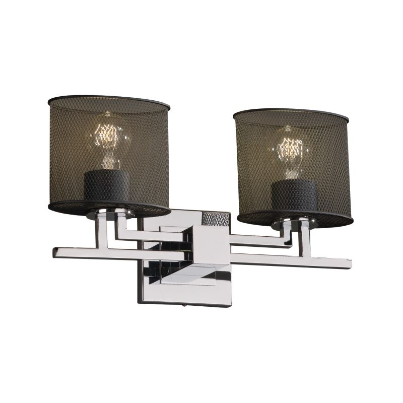 "Justice Design Group MSH-8702-30 Wire Mesh 16"" Bathroom Vanity Light Sale $238.00 ITEM: bci2722506 ID#:MSH-8702-30-CROM :"