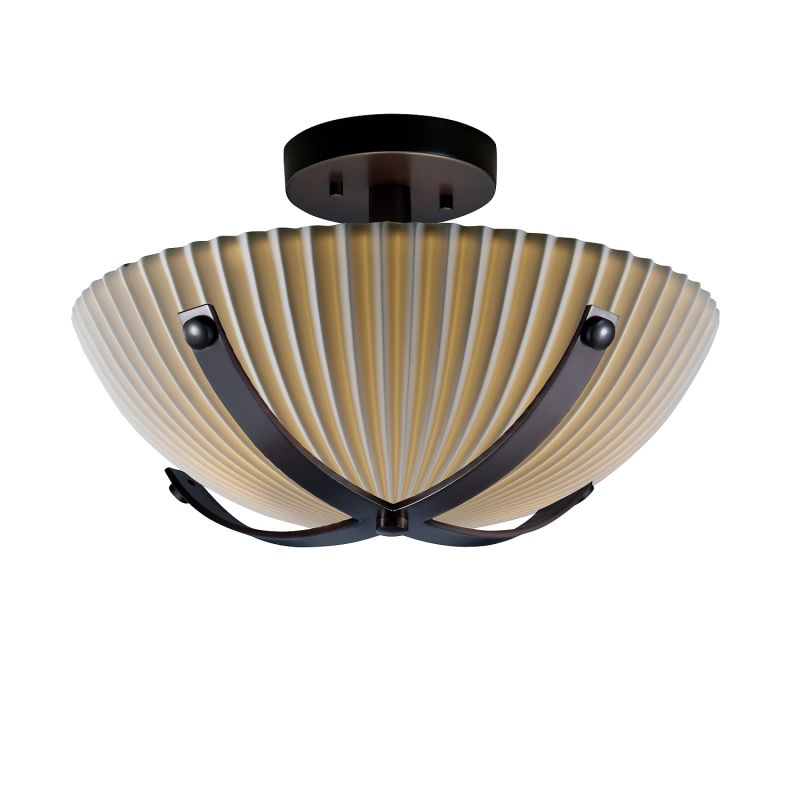 "Justice Design Group PNA-8760-35-PLET-LED-2000 Porcelina 14"" Round"