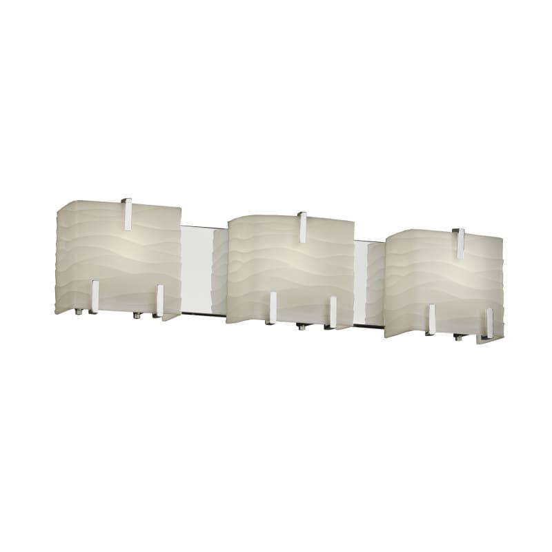 Justice Design Group PNA-8873-WAVE Porcelina 3 Light Vanity Light