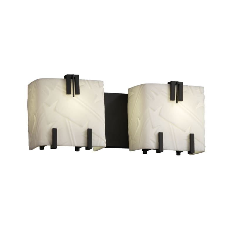 Justice Design Group PNA-8882-BANL Porcelina 2 Light Vanity Light Sale $238.00 ITEM: bci2722612 ID#:PNA-8882-BANL-MBLK :