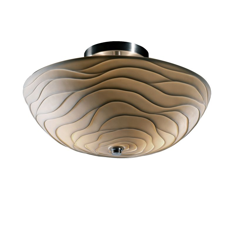 "Justice Design Group PNA-9690-35-WAVE-LED-2000 Porcelina 14"" Round"