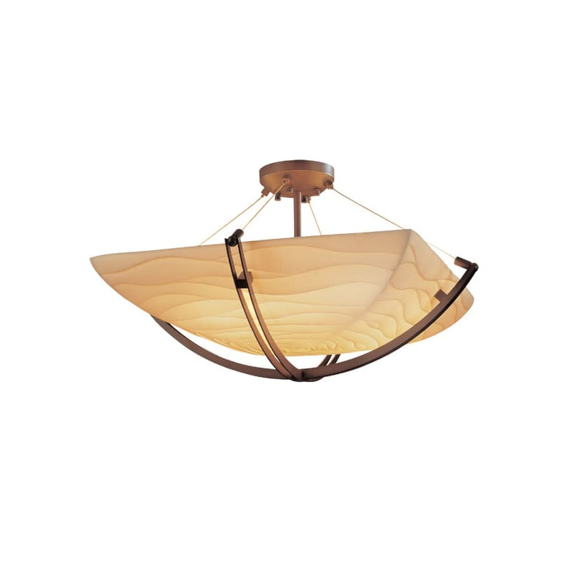 "Justice Design Group PNA-9714-25-WAVE Porcelina Collection 42"" Round"