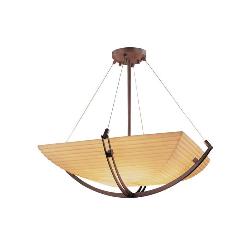 """Justice Design Group PNA-9724-25-SAWT Porcelina 42"""" Wide Bowl Pendant"""