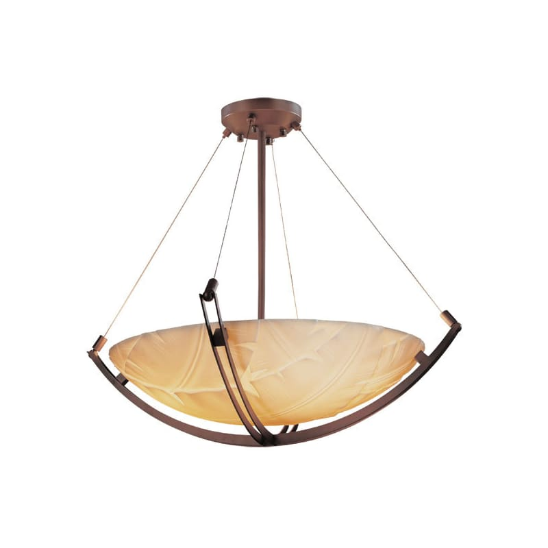 "Justice Design Group PNA-9724-35-BANL Porcelina 36"" Round Bowl Pendant"