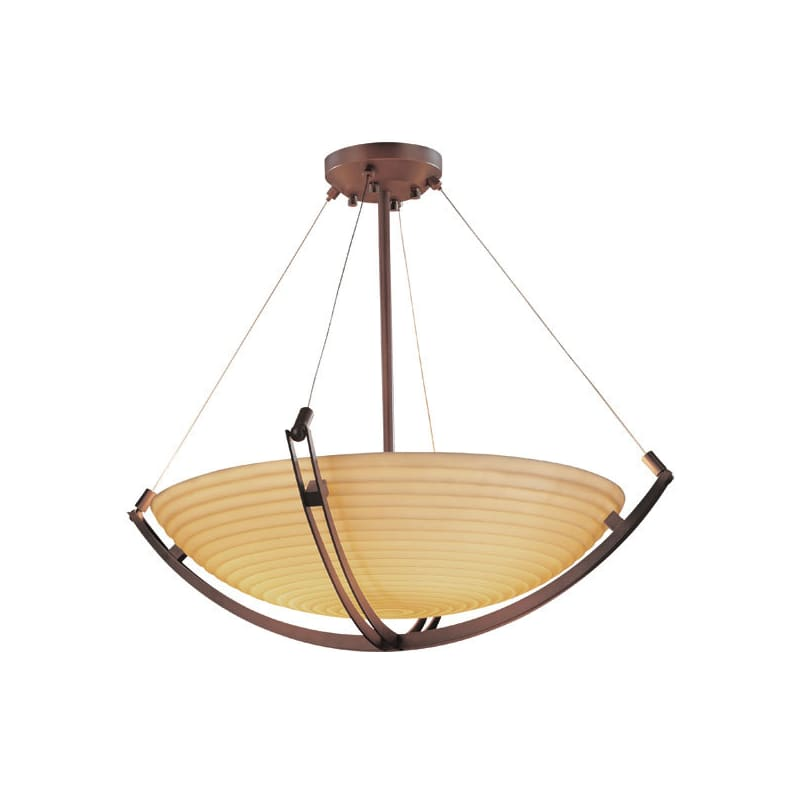 "Justice Design Group PNA-9724-35-SAWT Porcelina 36"" Round Bowl Pendant"