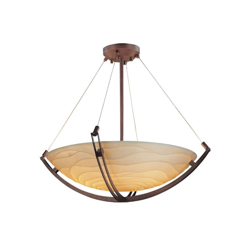 "Justice Design Group PNA-9729-35-WAVE Porcelina 60"" Round Bowl Pendant Sale $4248.30 ITEM: bci2858710 ID#:PNA-9729-35-WAVE-DBRZ UPC: 784689604482 :"