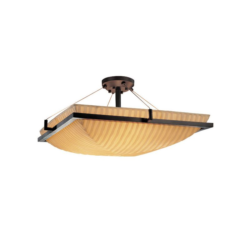 "Justice Design Group PNA-9781 18"" Square Semi-Flush Bowl Ceiling"