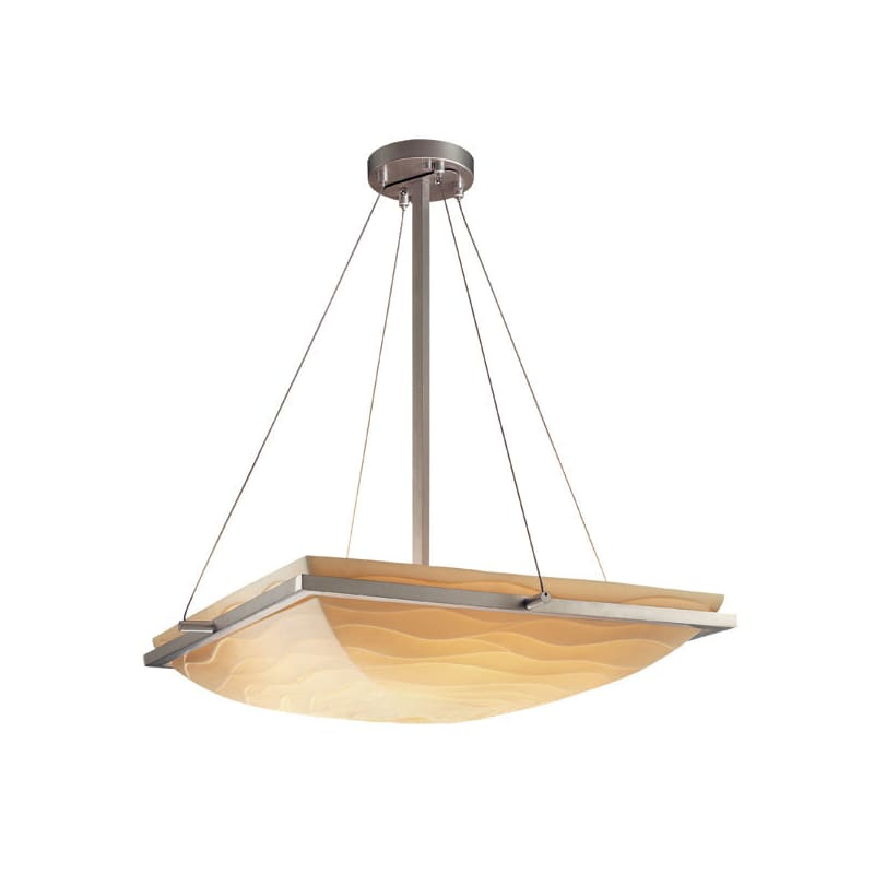 "Justice Design Group PNA-9791 18"" Square Bowl Pendant with Ring from"