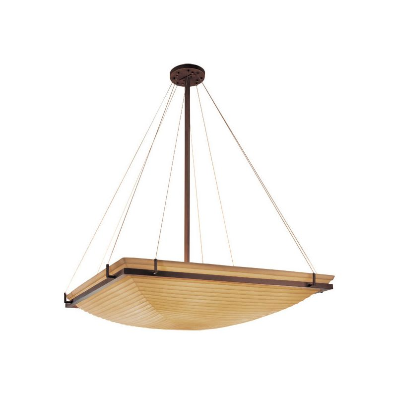 "Justice Design Group PNA-9797 48"" Square Bowl Pendant with Ring from"