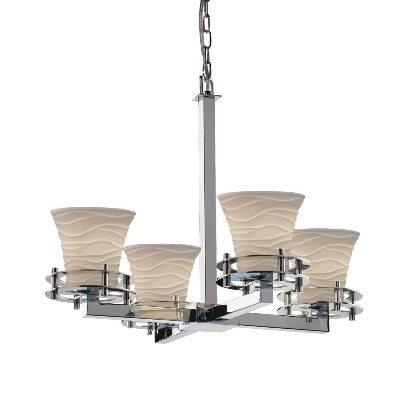 Justice Design Group POR-8200-20-WAVE Limoges 4 Light 1 Tier