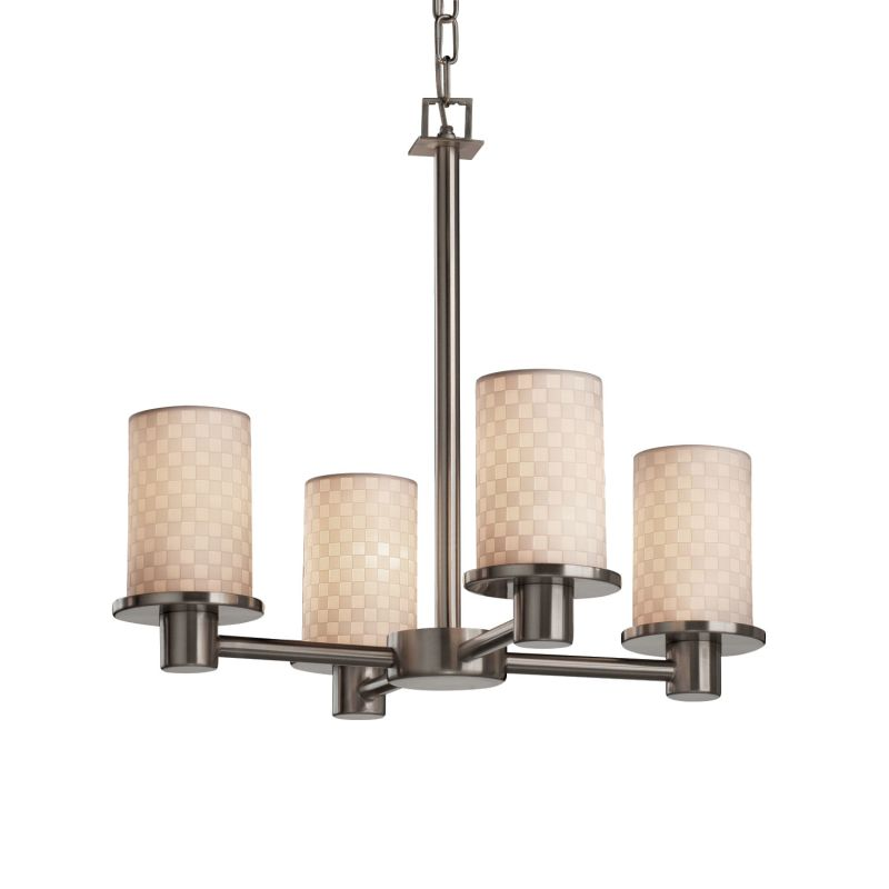 Justice Design Group POR-8510-10-CHKR Limoges 4 Light 1 Tier
