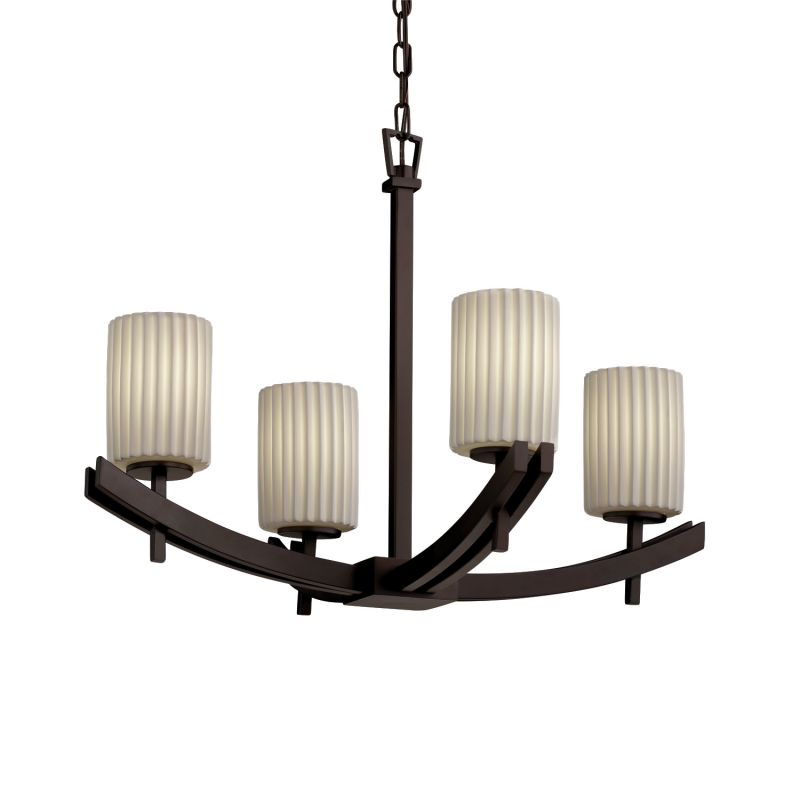 Justice Design Group POR-8590-10-PLET Limoges 4 Light 1 Tier Sale $467.50 ITEM: bci2584000 ID#:POR-8590-10-PLET-DBRZ :