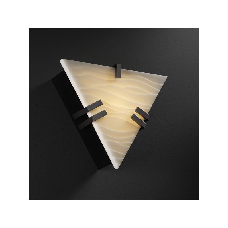 Justice Design Group PNA-5552 ADA Compliant Triangle Wall Sconce with Sale $159.12 ITEM: bci1582889 ID#:PNA-5552-WAVE-BLKN :
