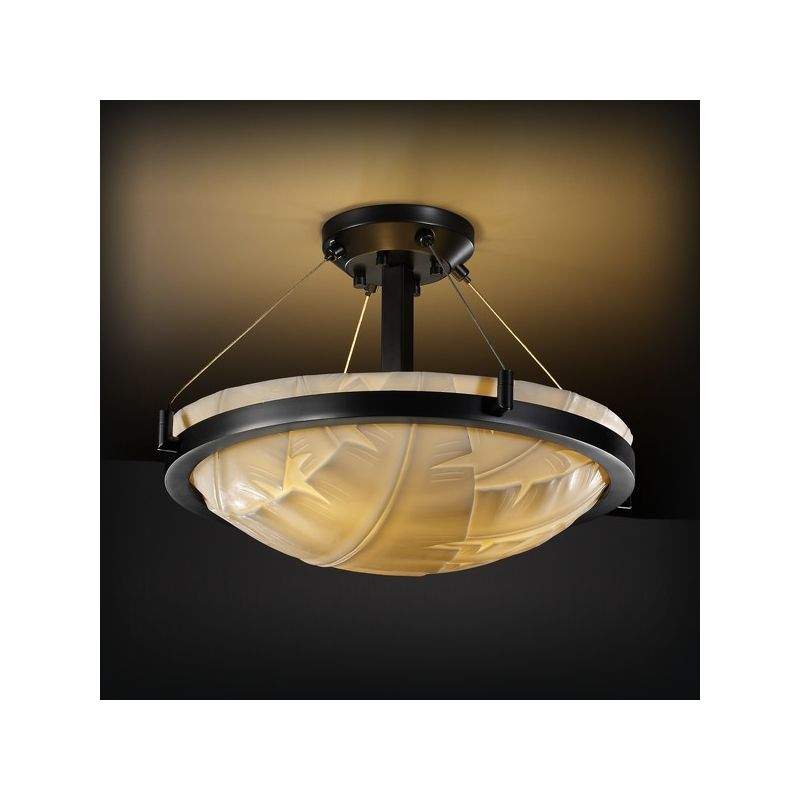 "Justice Design Group PNA-9681 18"" Round Semi-Flush Bowl Ceiling"