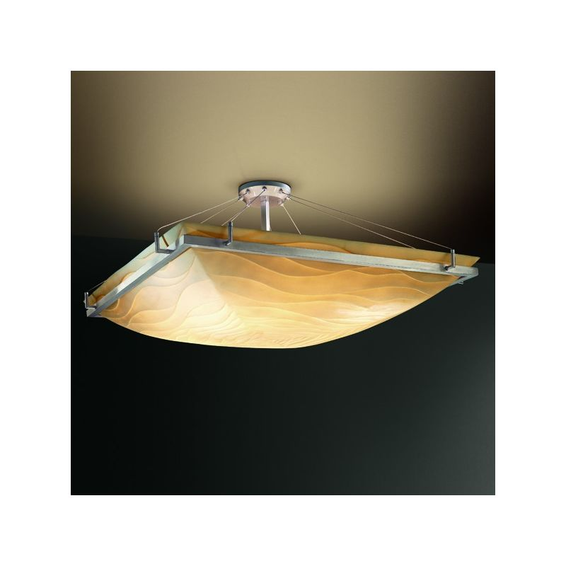 "Justice Design Group PNA-9782 24"" Square Semi-Flush Bowl Ceiling"