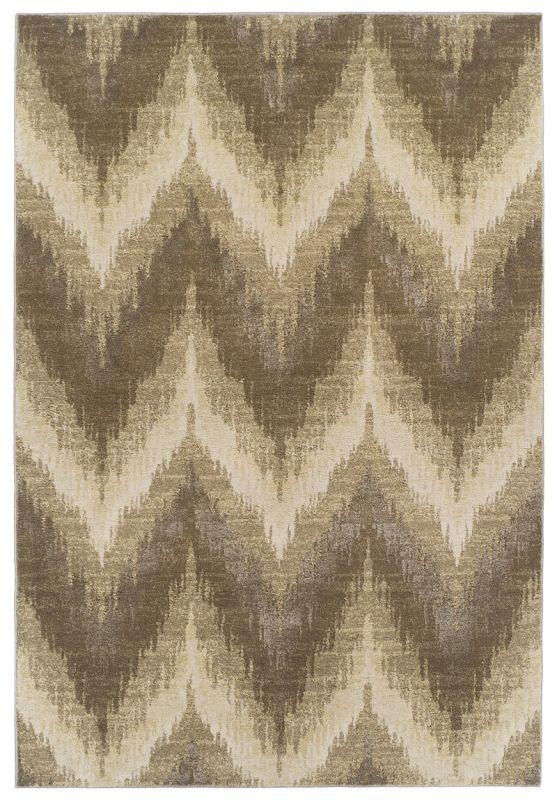 KAS Rugs Donny Osmond Home Timeless 8006 Champagne Chevron