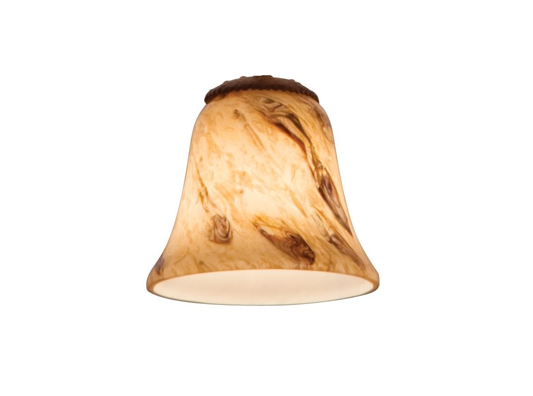 Kalco 1239 Replacement Glass Shade for Kalco Natural Swirl Accessory