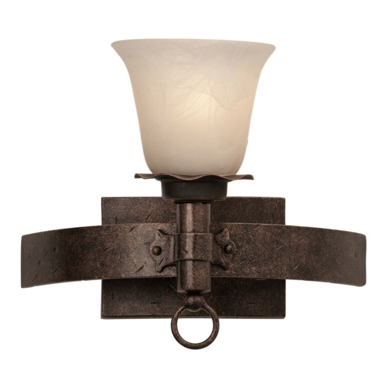 Kalco 4201 Americana 1 Light Bathroom Sconce Copper Claret / White