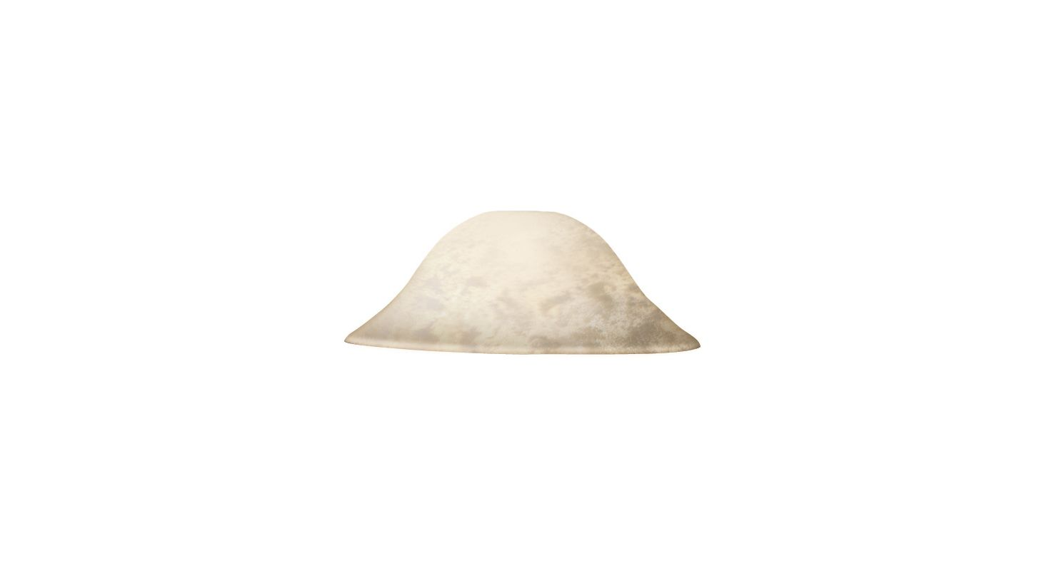 Kalco 7205 Ecru Hat Glass Shade from the Group K Collection Ecru