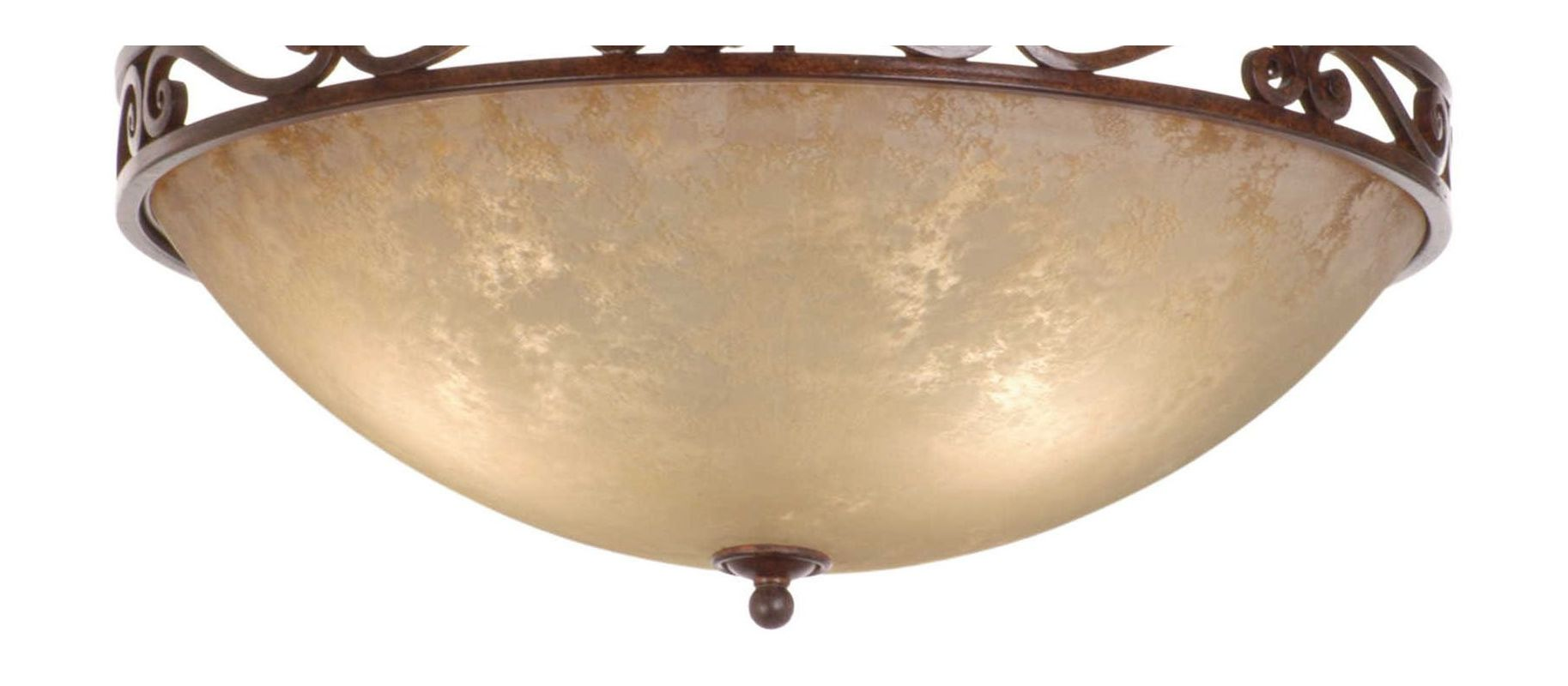 "Kalco G3132 Ecru 20"" Bowl with 5/8"" Hole Shade Ecru Accessory Kalco"