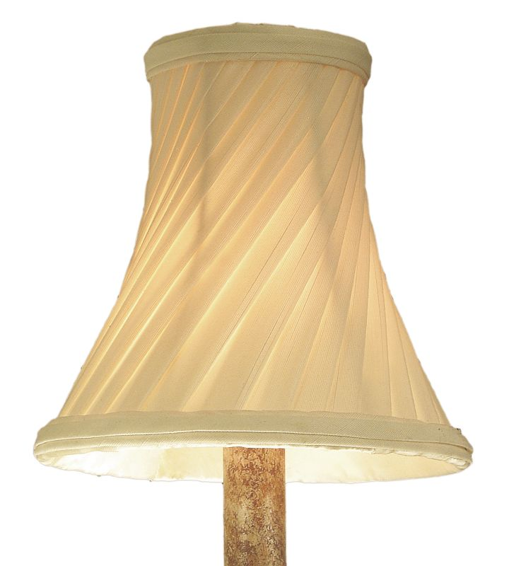 Kalco S21 Twisted Pleated Cream Shade Twisted Pleated Cream Accessory