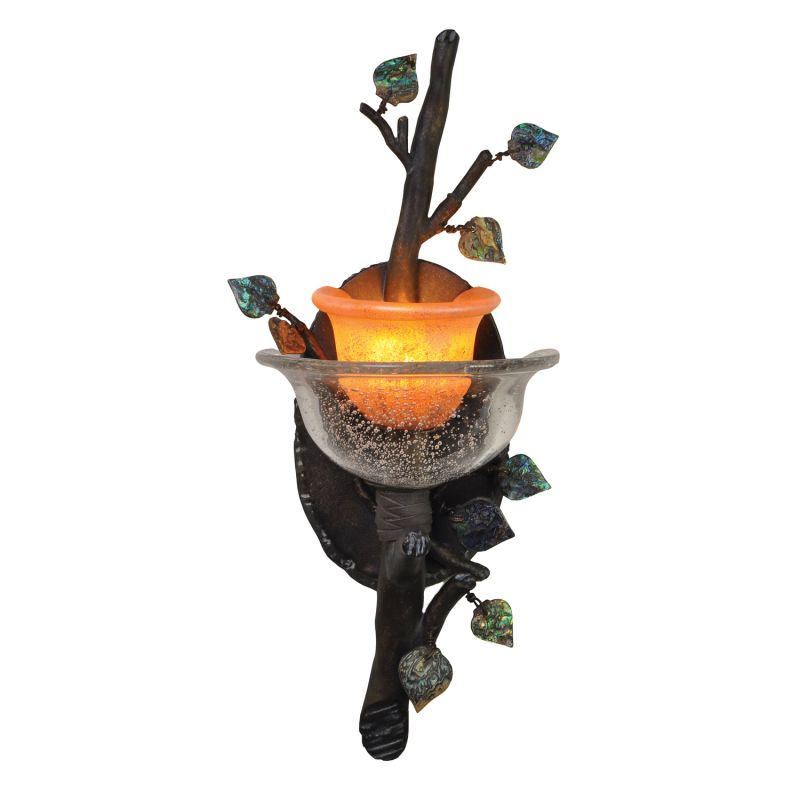 Kalco 2510SB/ART Cottonwood 1 Light Wall Sconce Sienna Bronze Indoor