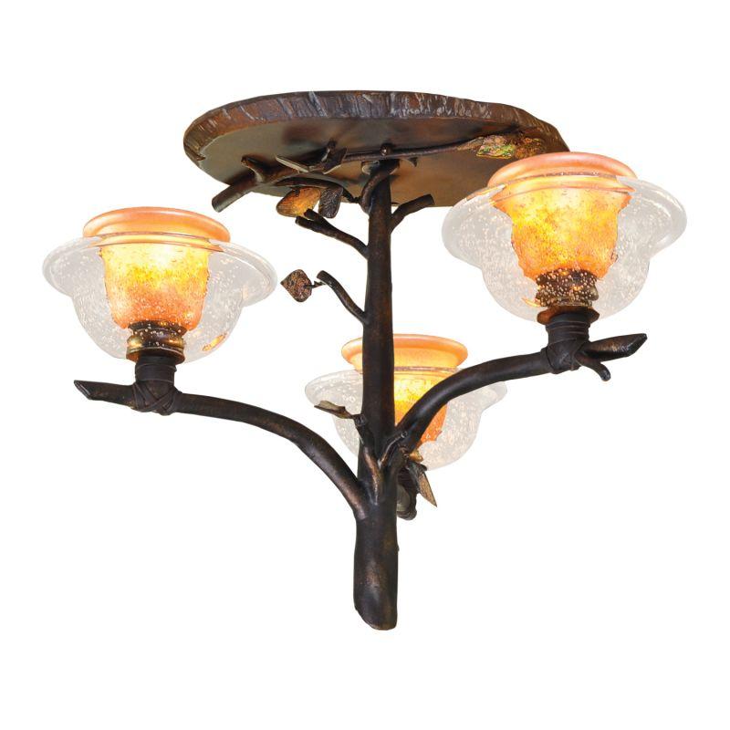Kalco 2517SB/ART Cottonwood 3 Light Semi-Flush Ceiling Fixture Sienna