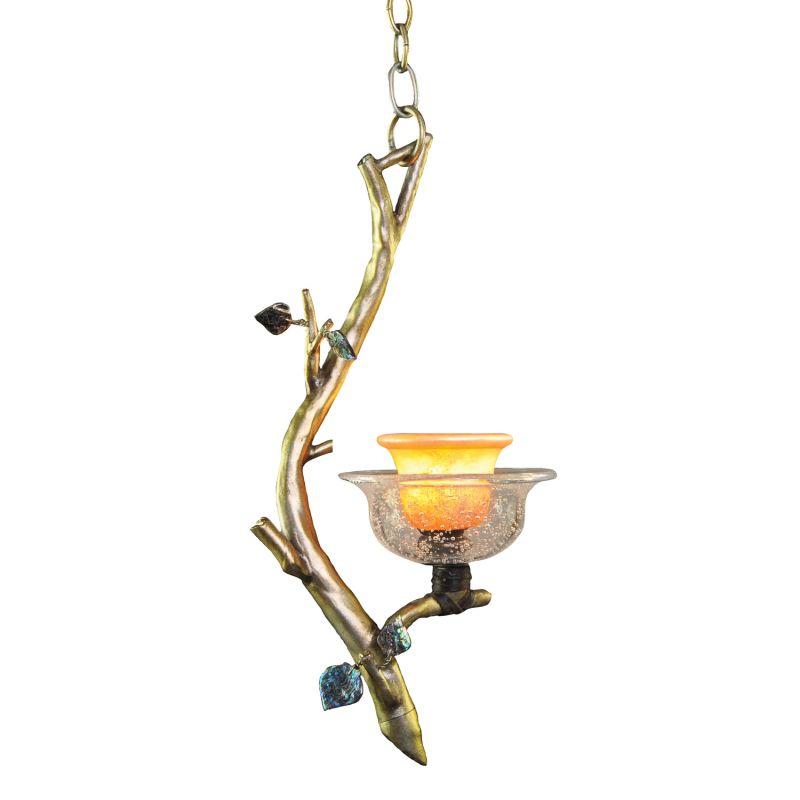 Kalco 2518SV/ART Cottonwood 1 Light Mini Pendant Aged Silver Indoor