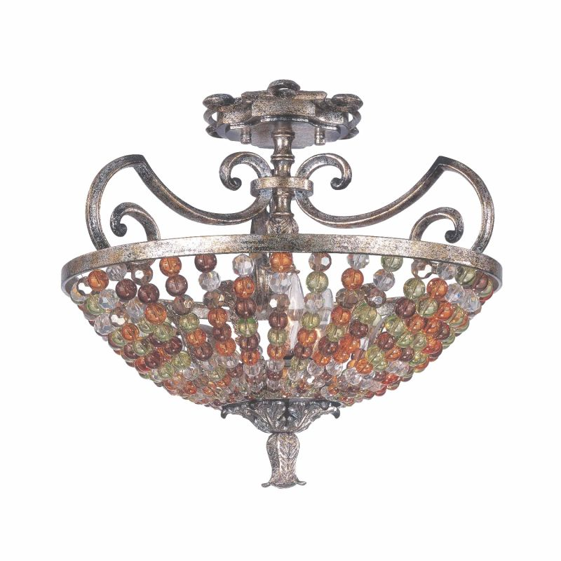Kalco 2565AF Chesapeake 3 Light Semi-Flush Ceiling Fixture Antique Sale $417.00 ITEM: bci2593192 ID#:2565AF UPC: 720062000540 :