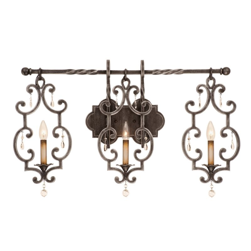 Kalco 2633VI Montgomery 3 Light ADA Compliant Wall Sconce Vintage Iron