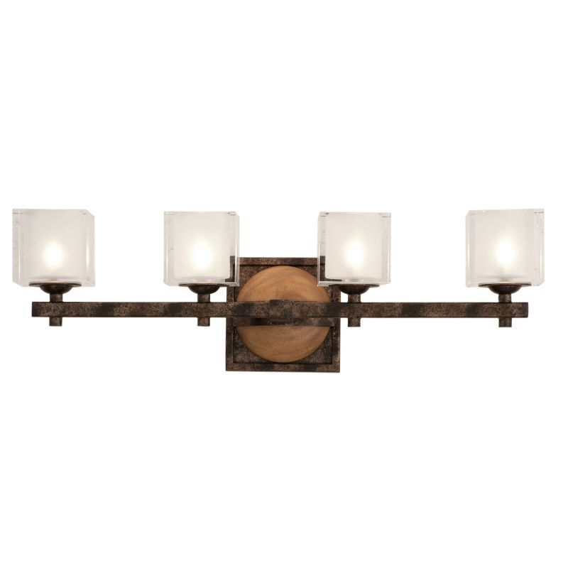 Kalco 2934FG Hampton 4 Light Bathroom Vanity Light Florence Gold