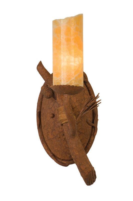 Kalco 3031 Ponderosa 1 Light Wall Sconce Ponderosa Indoor Lighting Up