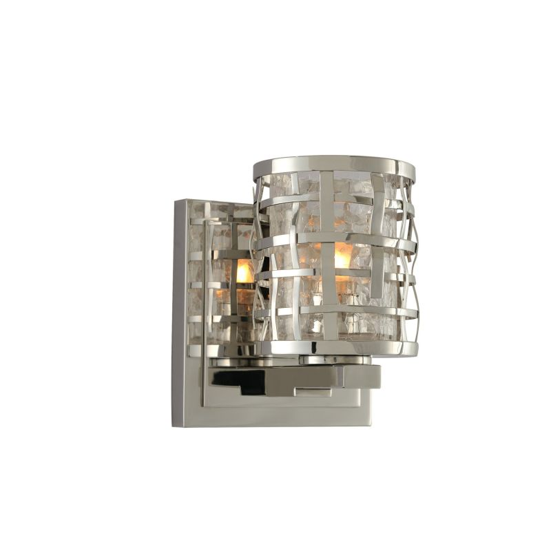 "Kalco 308731 Bridgeport 6"" Tall 1 Light Single Bathroom Sconce Brushed"