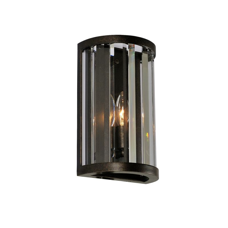 Kalco 314220 Essex 1 Light Wall Sconce with Clear Crystal Shade Sienna