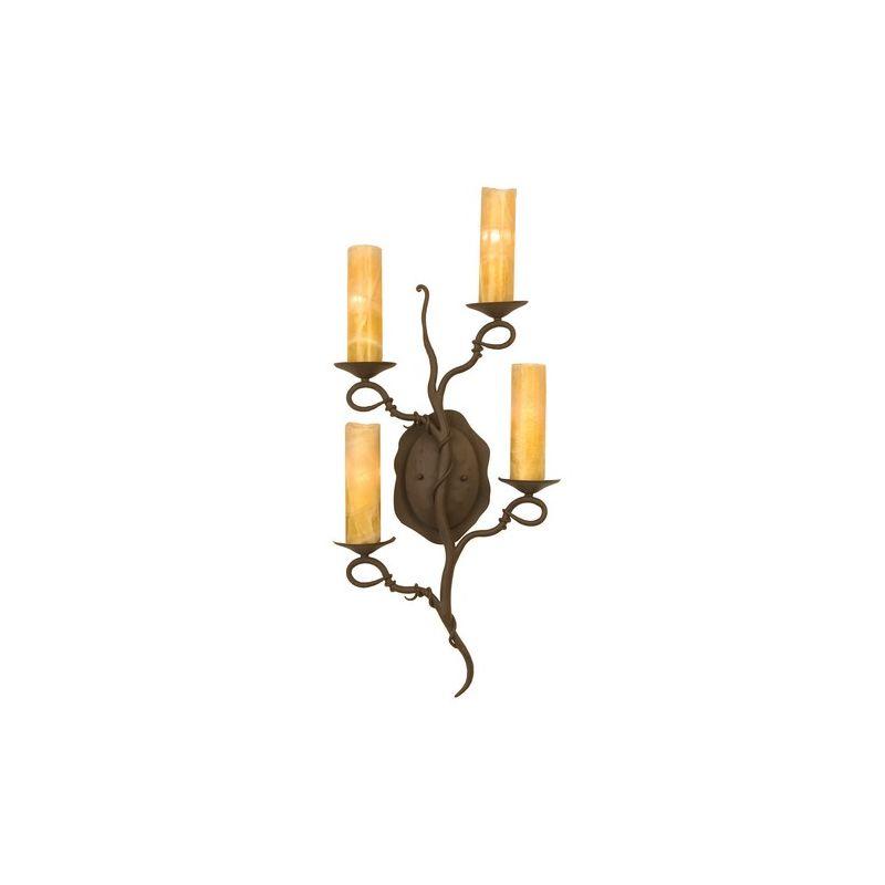 Kalco 4185 Vine 4 Light ADA Wall Sconce Bark Indoor Lighting Up