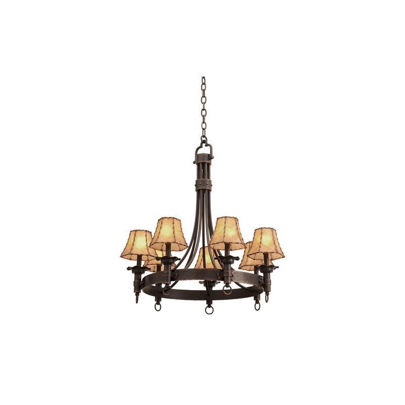 Kalco 4207 Americana 7 Light 1 Tier Chandelier Antique Copper Indoor