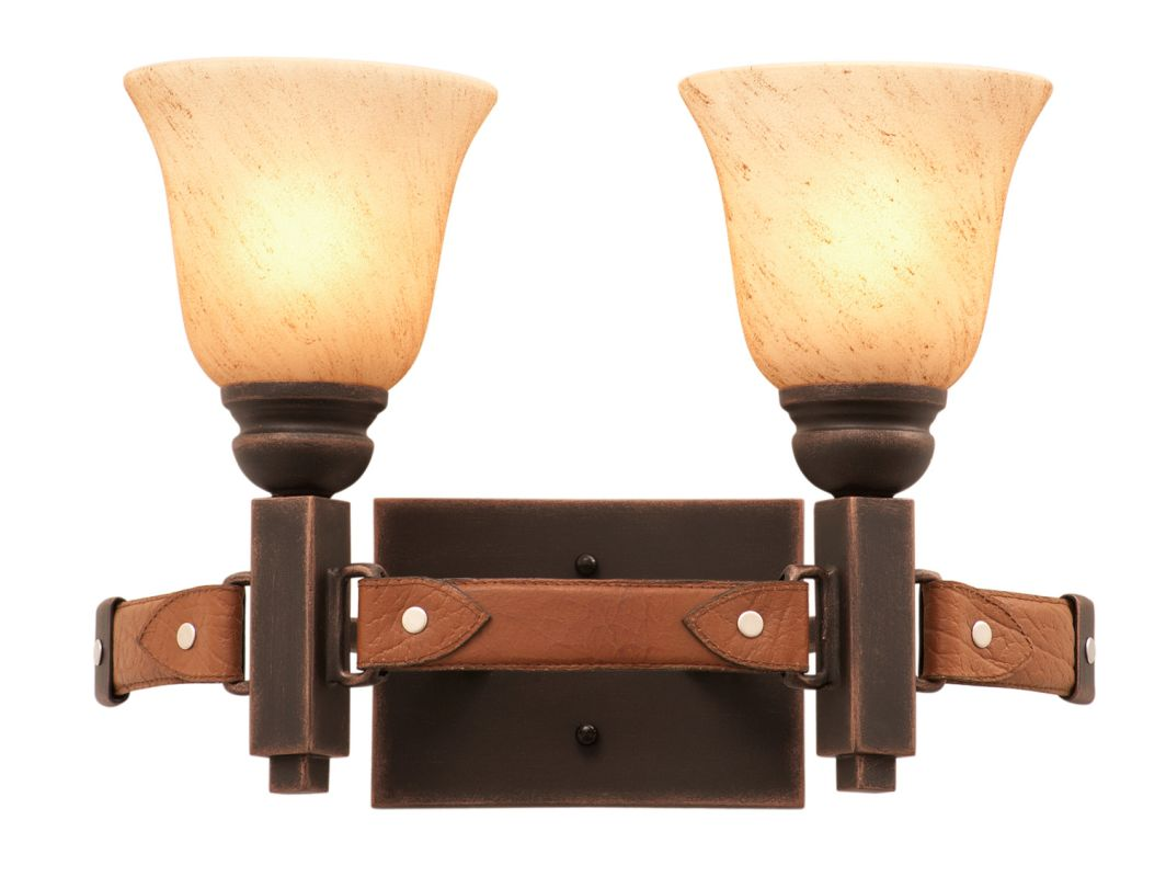 Kalco 4642AC/1313 Rodeo Dr. 2 Light Bathroom Vanity Light Antique