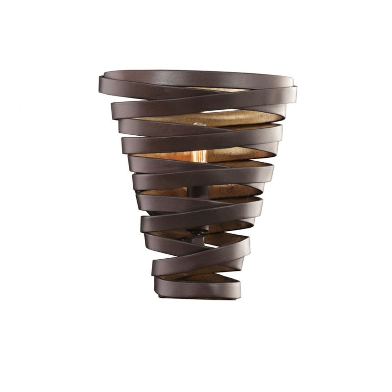 Kalco 503420 Tempest 1 Light Wall Sconce with Brown Metal Shade Bronze