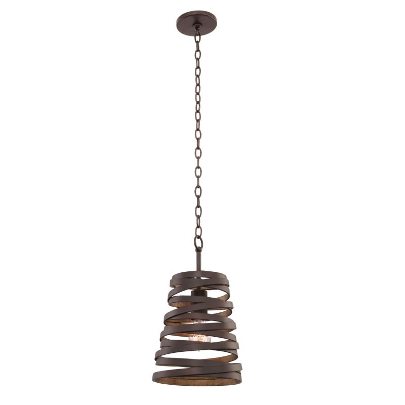 "Kalco 503451 Tempest 14"" Wide 1 Light Single Pendant Bronze Gold"