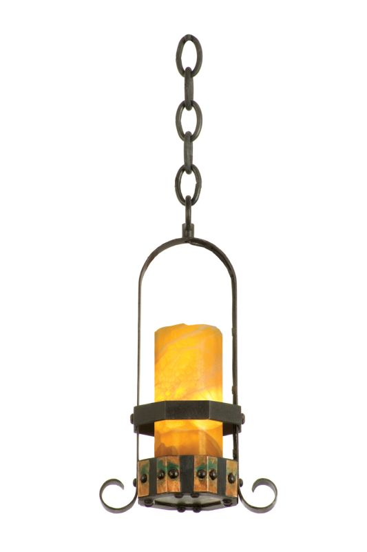 Kalco 5125NI/CALC Cordova 1 Light Mini Pendant Natural Iron Indoor