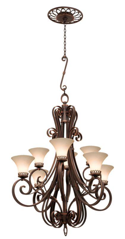 Kalco 5188AC/1577 Mirabelle 8 Light 1 Tier Chandelier Antique Copper