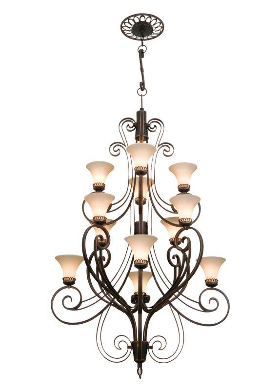 Kalco 5189AC/1577 Mirabelle 12 Light 3 Tier Chandelier Antique Copper