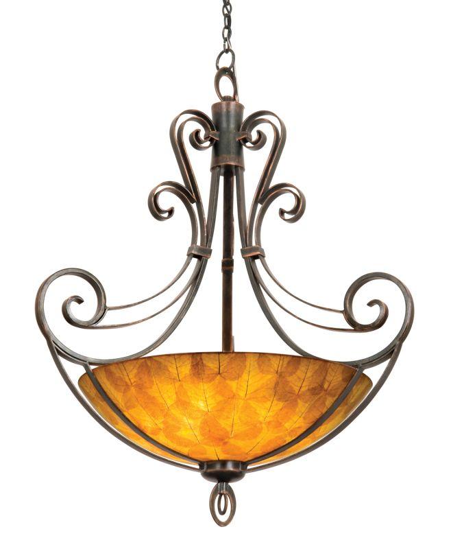 Kalco 5194AC/NS104 Mirabelle 6 Light Bowl Pendant Antique Copper