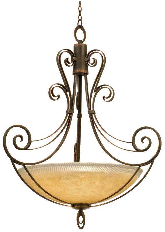 Kalco 5196AC/G3535 Mirabelle 6 Light Bowl Pendant Antique Copper