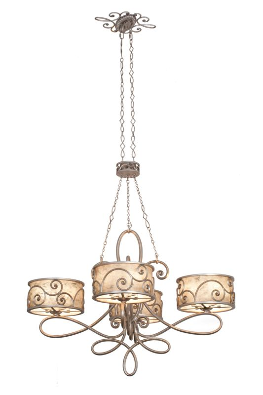 Kalco 5412SV Windsor 20 Light 1 Tier Drum Chandelier Aged Silver
