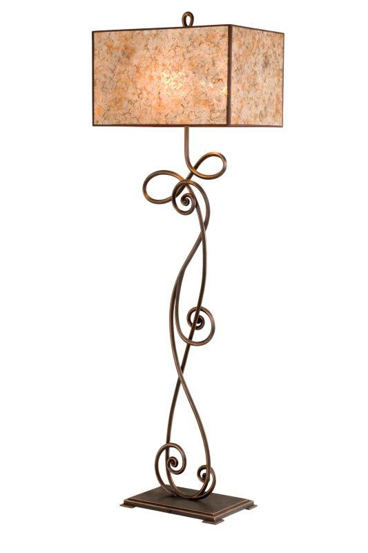 Kalco 5419 Windsor 2 Light Floor Lamp Aged Silver Lamps