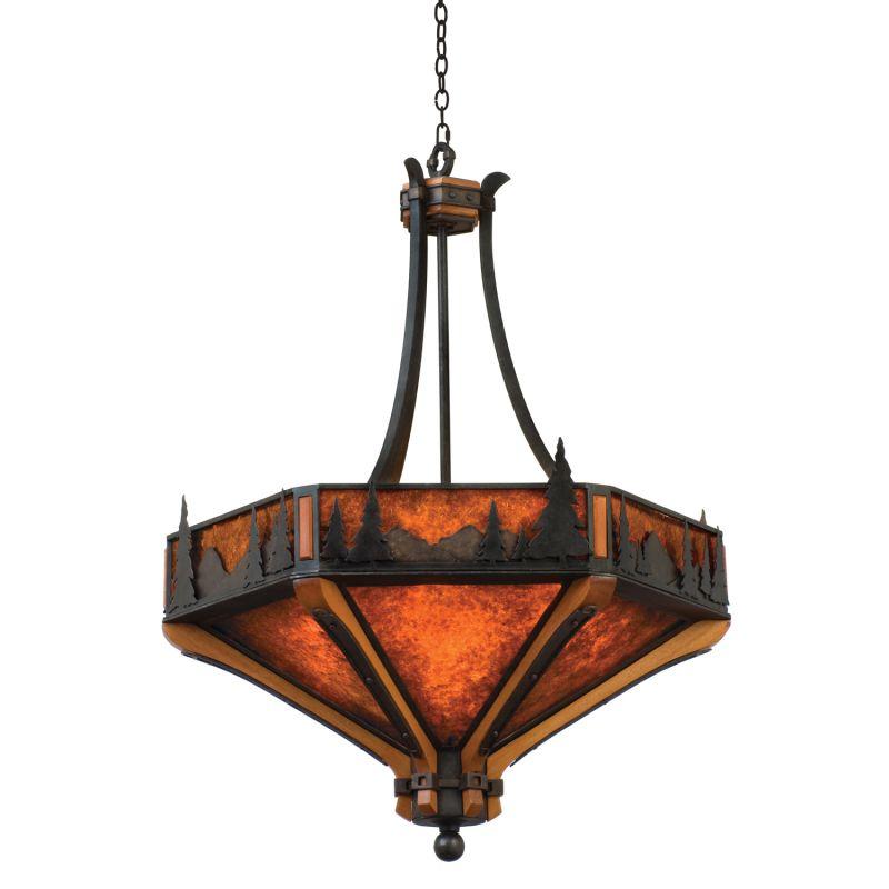 Kalco 5817NI Aspen 6 Light Pendant Natural Iron Indoor Lighting
