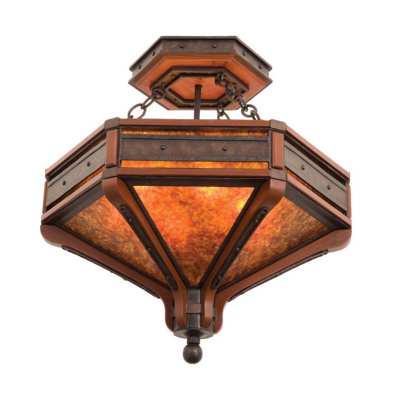 Kalco 5836NI Aspen 6 Light Semi-Flush Ceiling Fixture Natural Iron