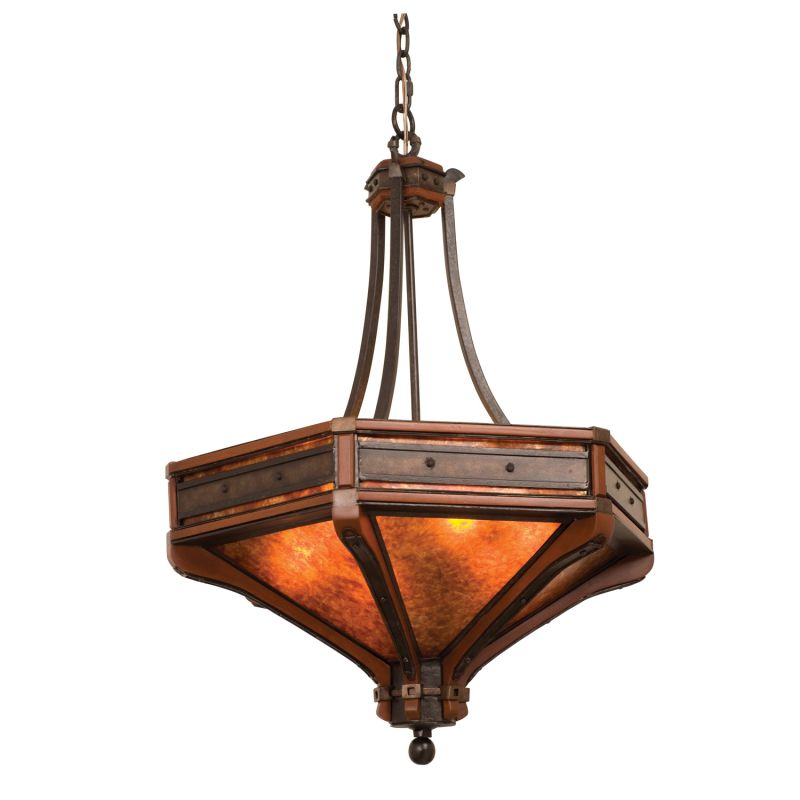 Kalco 5837NI Aspen 6 Light Pendant Natural Iron Indoor Lighting